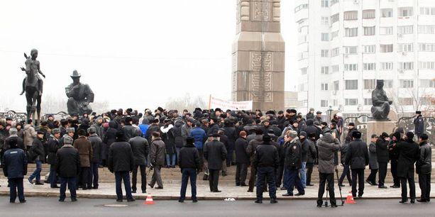 Kuva mielenoistuksista syksyllä 2011.