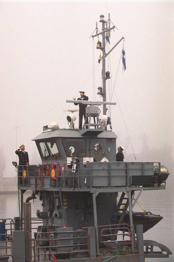Kala-luokan kuljetuslautta Puolustusvoimien arkistokuvassa.