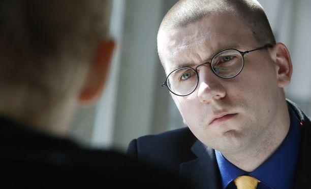 Sebastian Tynkkynen on perussuomalaisten kolmas varapuheenjohtaja.