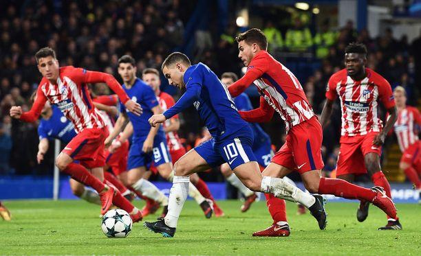 Punavalkoisen Atléticon taistelu ei riittänyt Chelsean Stamford Bridgellä.