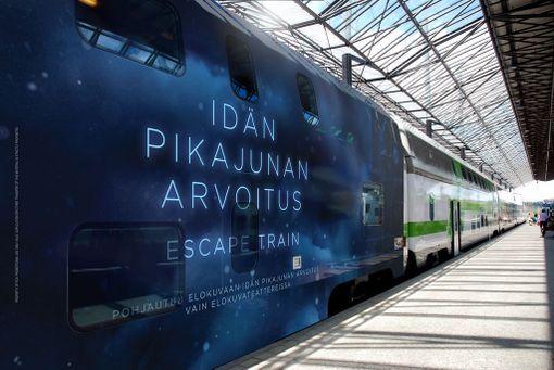 13-tuntinen peli käydään liikkuvassa junassa matkalla Helsingistä Rovaniemelle.