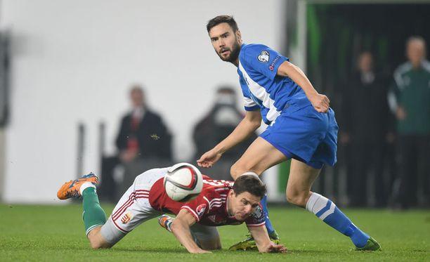 Tim Sparv oli vahva Unkaria vastaan.