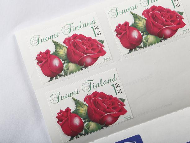 1. luokan postimerkkejä. Kuvituskuva.