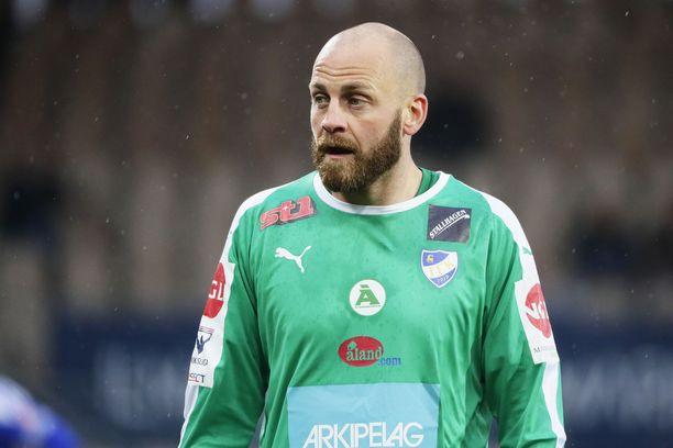 IFK Mariehamnin Daniel Sjölund pelasi puoli tuntia HJK:ta vastaan.