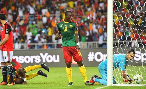 Vincent Aboubakar johti Kamerunin yllätysvoittoon Afrikan mestaruusturnauksessa.