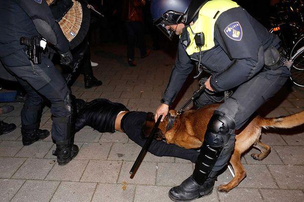 Poliisi otti miestä kiinni sunnuntain vastaisena yönä Rotterdamissa.