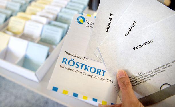 Äänestysaika Ruotsissa päättyi Suomen aikaa kello 21 sunnuntaina.
