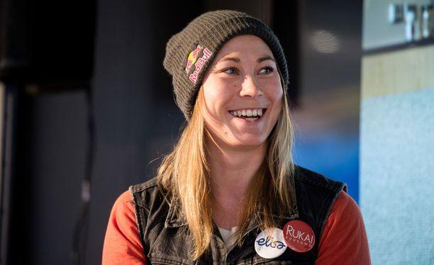 Enni Rukajärvi nappasi Sotshissa slopestylen olympiahopeaa.