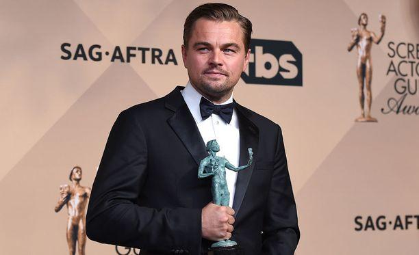 Leonardo DiCaprio oli erittäin otettu palkinnostaan.