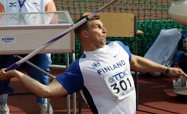 Ex-huippuheittäjä Aki Parviainen lopetti uransa vuonna 2006.