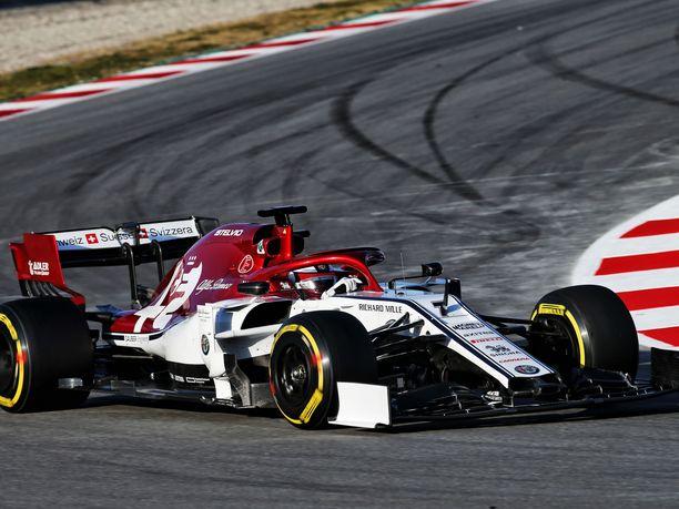 Kimi Räikkönen oli maanantain viidenneksi vikkelin kuljettaja Barcelonassa.