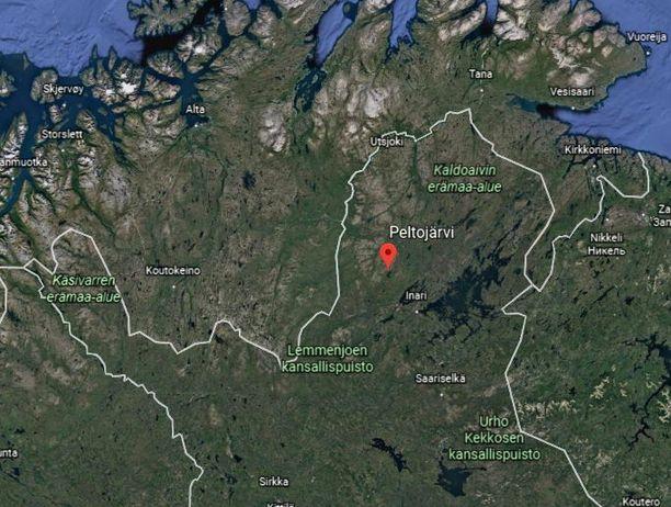 Onnettomuuspaikkana oli Inarissa sijaitseva Peltojärvi.