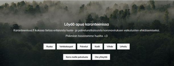 Opiskelijat kokoavat Karanteenissa.fi-sivustolle palveluja, joista voi olla hyötyä, jos ei voi poistua kotoa koronaviruksen takia.