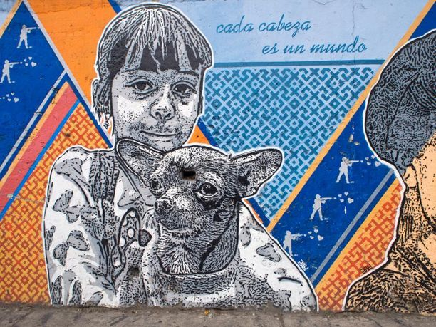 Taiteilija: Dj Lu. Paikka: Bogota, Kolumbia.