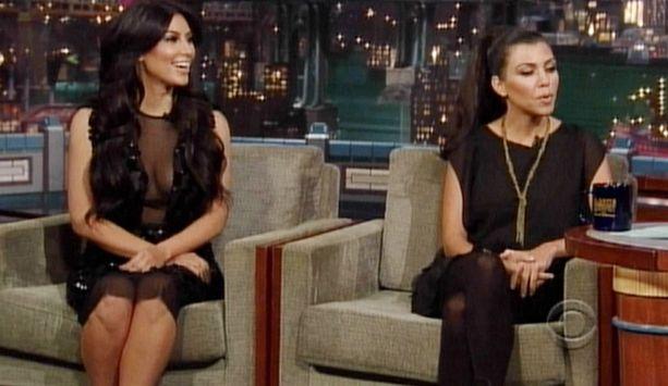 Kardashianin siskokset vierailivat The Late Show With David Lettermanissa.