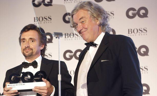 Brittitähdet Richard Hammond ja James May tähdittivät Top Gear -sarjaa. Nykyään he tekevät The Grand Tour -autoiluohjelmaa.