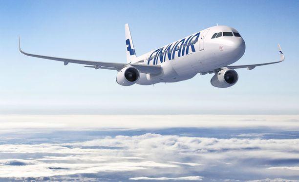 Finnairin kone lentää suotuisten tuulten puhaltamana kotimaahan ennätysvauhtia.