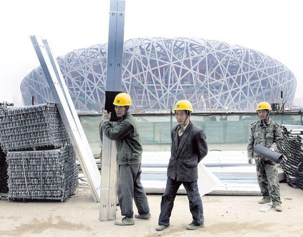 """""""Linnunpesä"""" Komean olympiastadionin rakennustyöt ovat jo viimeistelyvaiheessa."""