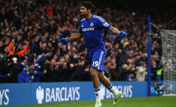 Diego Costa tuuletti Chelsean 2-0-osumaa.