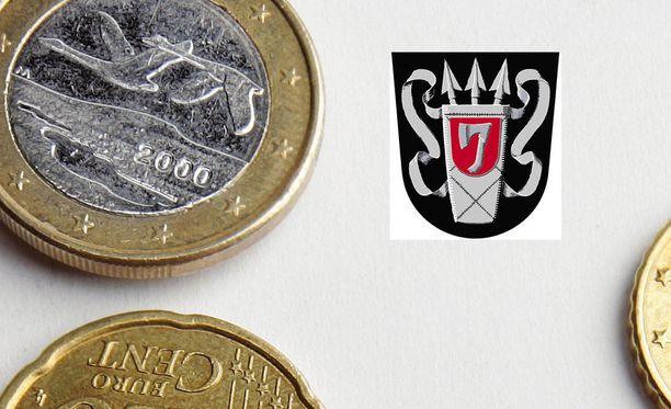 Yhdellä eurolla saa 1,05 sysmää.