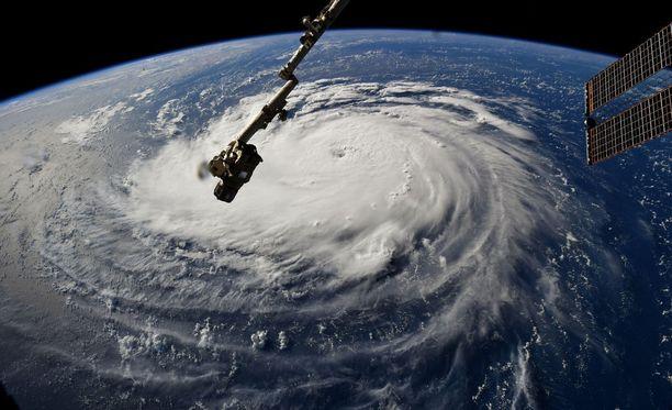 Tältä hurrikaani Florence näyttää Kansainväliseltä avaruusasemalta katsottuna.