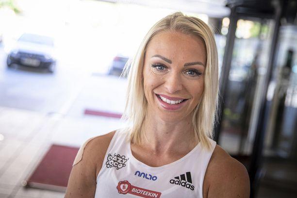 Annimari Korte on ollut alkukaudella nopein Suomen pika-aitanaisista.