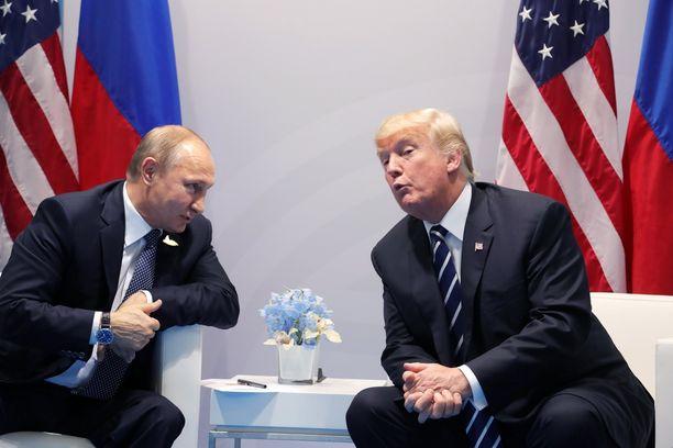Venäjän ja Yhdysvaltain presidentit tapasivat toisensa Hampurissa heinäkuun alussa.