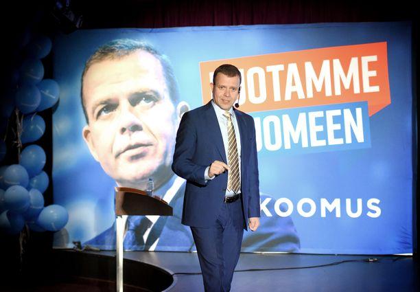 Petteri Orpo kannusti puheellaan kokoomusväkeä puolueen vaaliristeilyllä Silja Europalla sunnuntaina.
