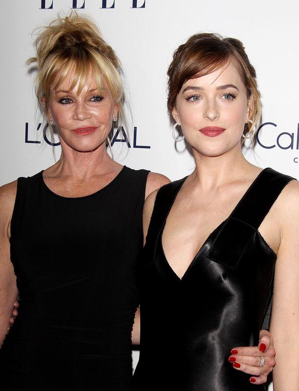 Melanie Griffith edusti tänä syksynä punaisella matolla tyttärensä, Fifty Shades of Grey -kohuleffan tähden Dakota Johnsonin kanssa. Dakotan isä on Miami Vice -tähti Don Johnson.