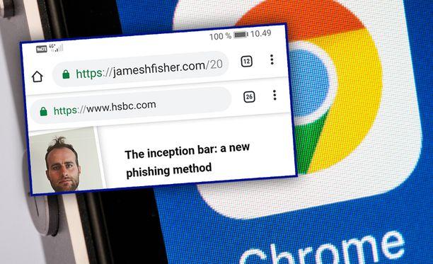 Oikea osoitepalkki saadaan korvattua Chromessa.
