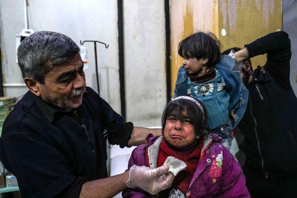 Ilmaiskut Itä-Ghoutan alueella jatkuvat. Kuva menneeltä viikolta.