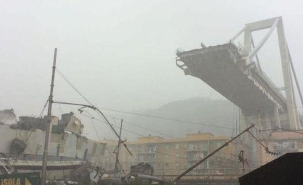 Genovan ulkopuolella romahti moottoritiesilta tiistaina 12.30 Suomen aikaa. Turmassa on kuollut tämänhetkisen tiedon mukaan noin 30 ihmistä.