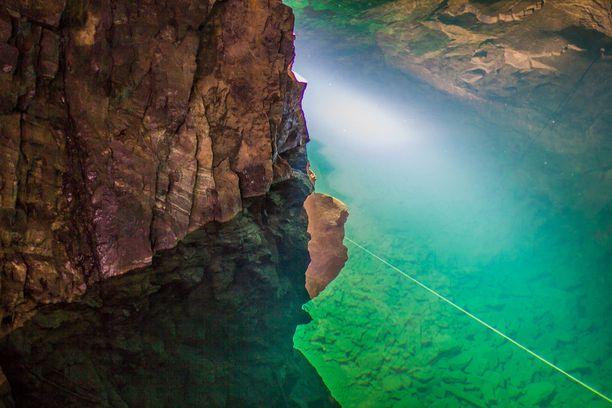 Tuna Hästbergin kaivos on suosittu sukelluspaikka.