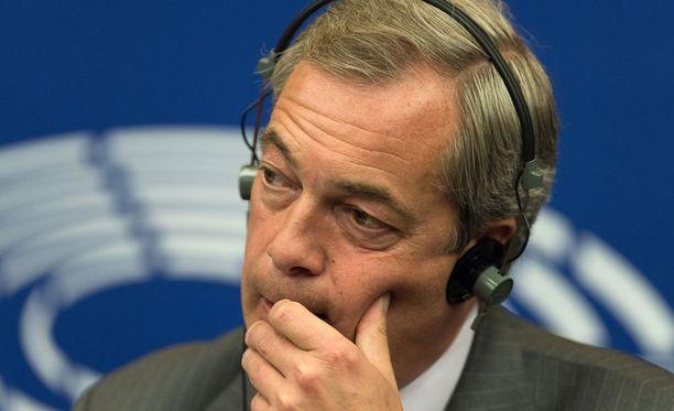 Britannian itsenäisyyspuolueen Ukipin entinen johtaja Nigel Farage vieraili Trumpin vaalitilaisuudessa.