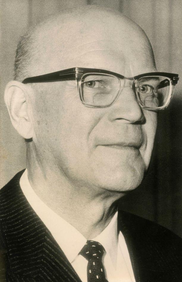 Kuvassa tasavallan presidentti Urho Kekkonen.