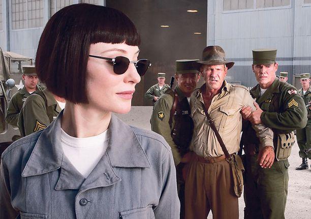 Cate Blanchettin esittämä Stalinin agentti kiusaa Harrison Fordia.