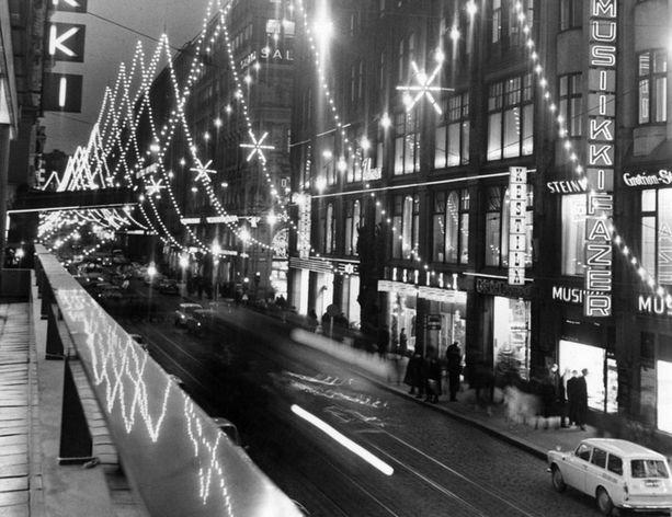 Joulukatu vuonna 1965.