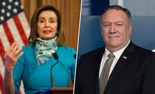 Kongressin edustajainhuoneen puheenjohtaja Nancy Pelosi ja ulkoministeri Mike Pompeo kuuluvat Yhdysvaltojen presidentin vallan perimysjärjestyksen kärkijoukkoon.