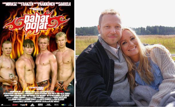 Lauri Nurkse paljastaa Marja Hintikalle erikoisen syyn siihen, miksi hän poseeraa oheisessa julisteessa kissan kanssa.