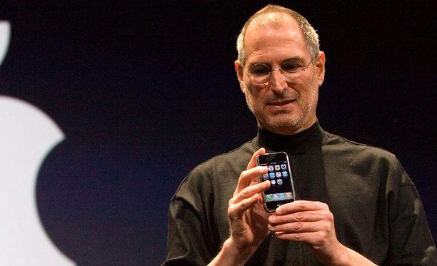 Steve Jobs esitteli ensimmäisen Iphonen San Franciscossa 9.1.2007.