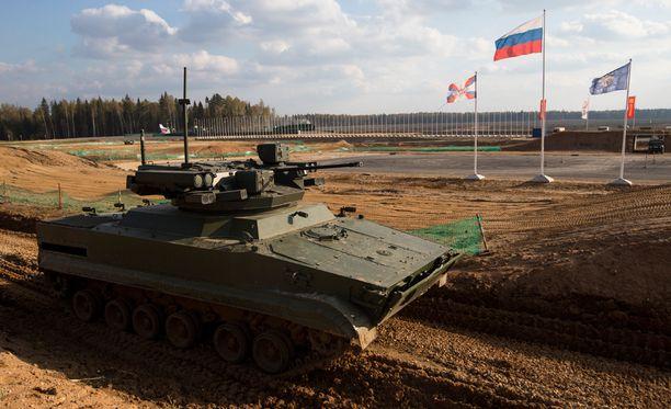 Venäjä esitteli lokakuun alussa sotilaskalustoaan Moskovan ulkopuolella.