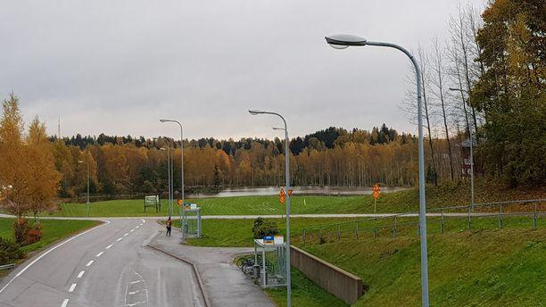 Löfkullan golfkenttäkin on veden vallassa Espoossa.
