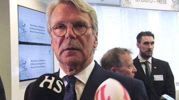 Sammon, Nordean ja UPM:n hallitusten puheenjohtaja Björn Wahlroos.