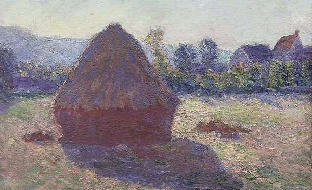 Claude Monet, Heinäsuova ilta-auringossa, 1891