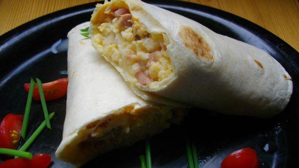 Burrito sopii lounaaksi, aamupalaksi tai välipalaksi.