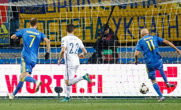 Artem Kravets ratkaisee ottelun.