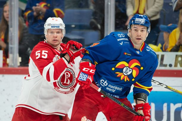 Vitjazin Miro Aaltonen pelaa vahvaa KHL-syksyä, mutta Jokereita vastaan hän ei tehoillut.