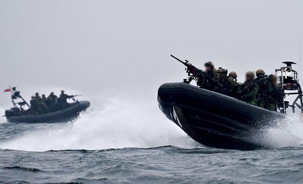 Suomen joukkoja on osallistunut usein erilaisiin kansainvälisiin sotaharjoituksiin Itämeren alueella. Kuva Cobra-13 -harjoituksesta Puolan rannikolla.