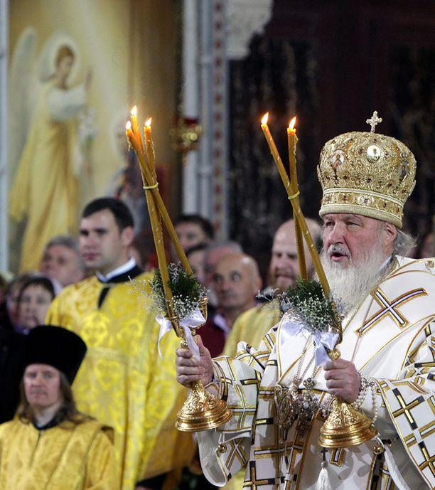 Patriarkka Kirill piti torstain ja perjantain välisenä yönä juhlajumalanpalveluksen Moskovassa.