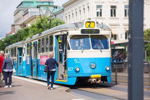 Raitiovaunu on kätevä tapa liikkua paikasta toiseen Göteborgissa.